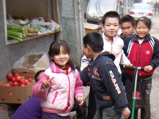 Friendly Chinese children