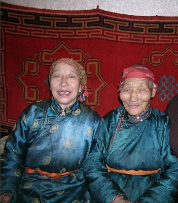 Smiling Mongolian ladies
