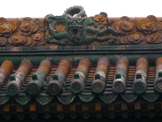 Chinese dragon on roof