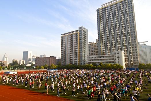 China morning exercise