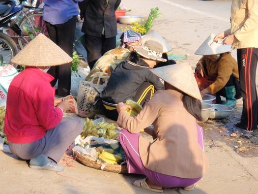 Street market in Vietnam