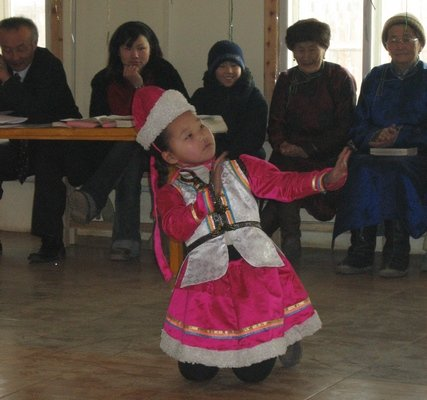Traditional Mongolian dance costume