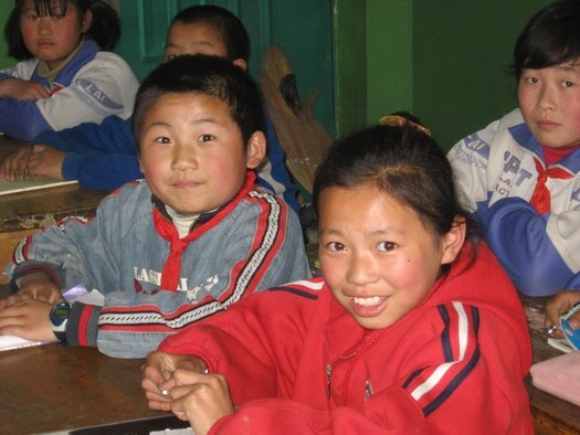 Primary school classroom, China
