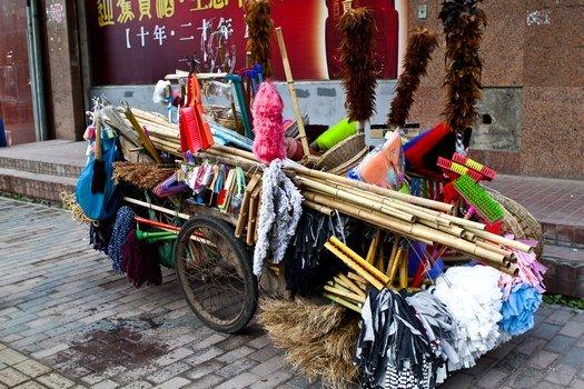 Brush pedlar in China