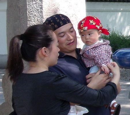 Bandana bandanna China baby close-up