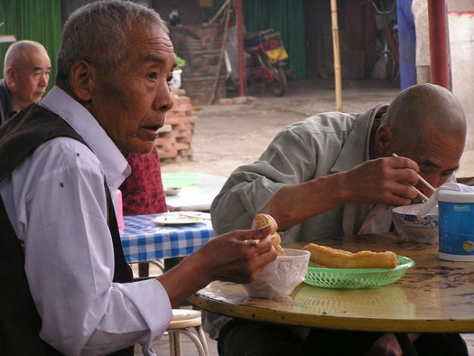 Breakfast on Chinese street