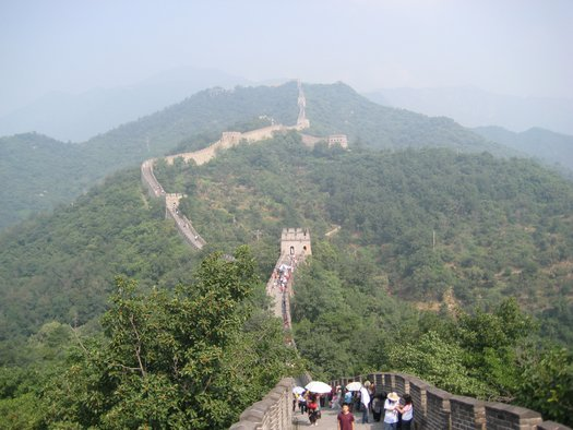 Great Wall running into distance