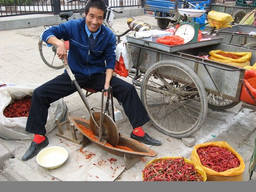 Grinding spice
