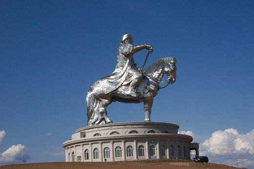 Genghis Khan and horse