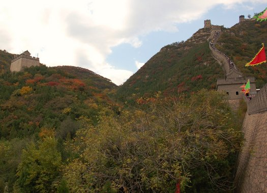 Great Wall hillside