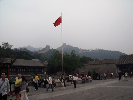 Chinese Flag at Great Wall