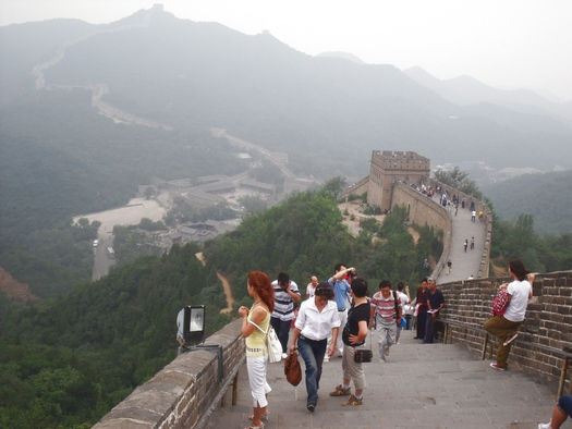 Looking down from Great Wall