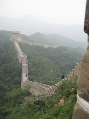 Steep parts of Great Wall of China
