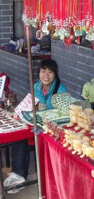 Chinese souvenir seller