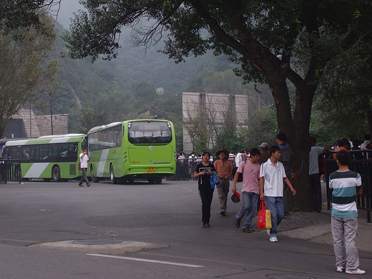 Bus from Great Wall to Beijing