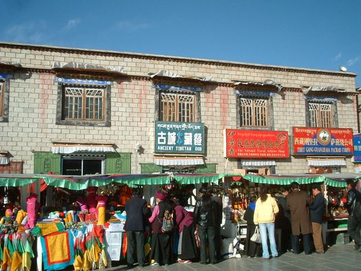 Tibet Barkor market near Jokhang Temple