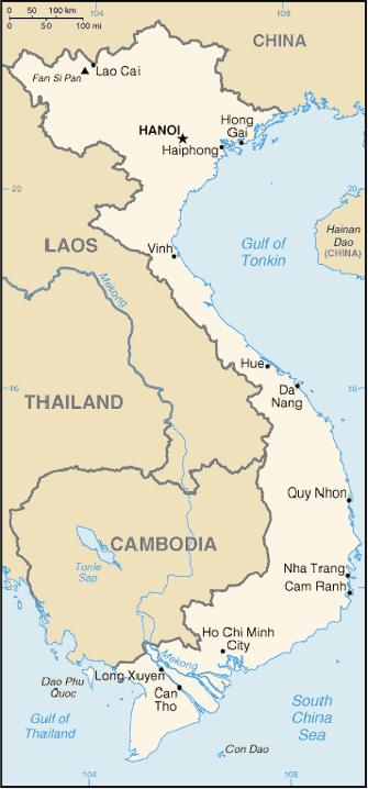Map of Vietnam