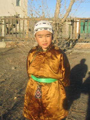 Mongolian boy named Bymba