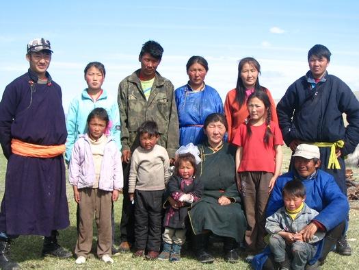 Mongolian nomad family