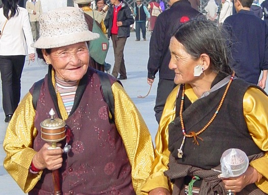 Beads and prayer wheels