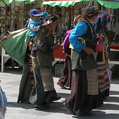 Tibetan women in Barkor