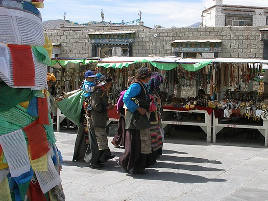 Tibetans in the barkor