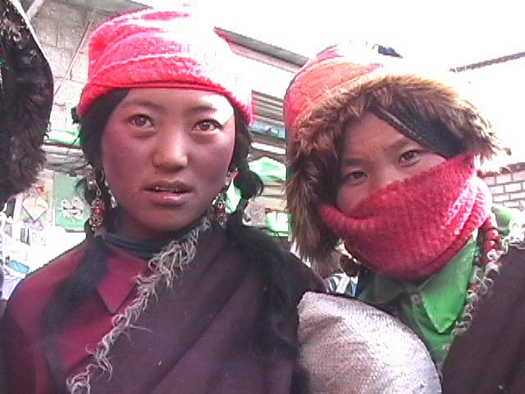 Tibetan nomad young women