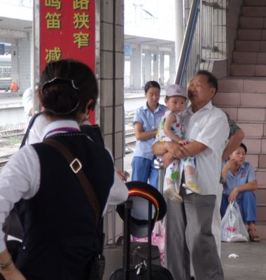 Grandpa and baby in Hefei
