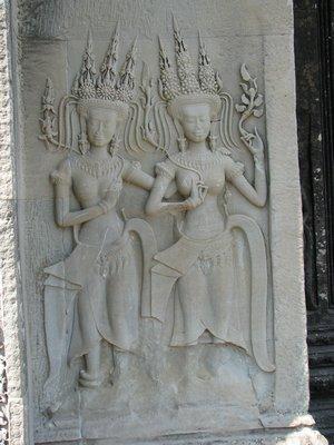 Angkor Wat guardian angels