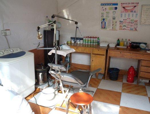 Back street dentist in China