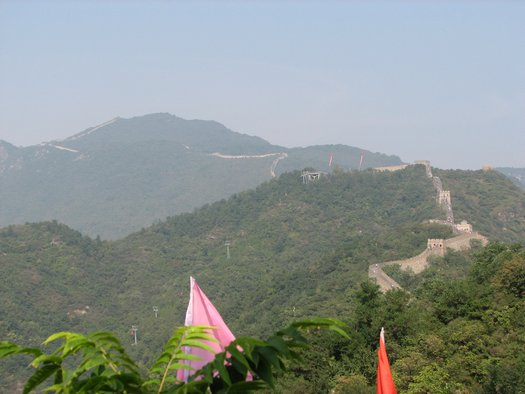 Great Wall distant hills