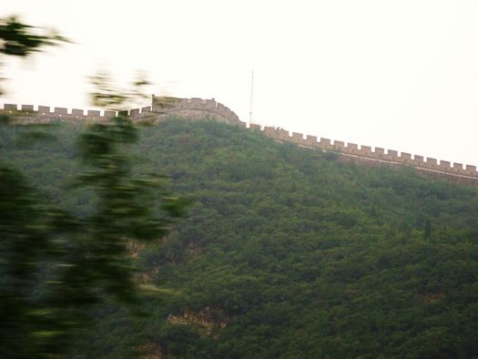 China Great Wall from train