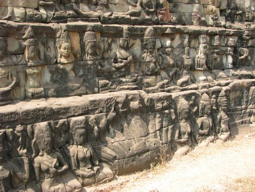 Angkor Wall relief sculpture