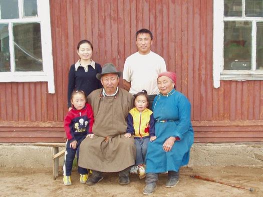 Mongolian Buryat family