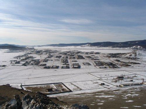 Mongolian village in winter