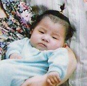 Sleepy Chinese baby