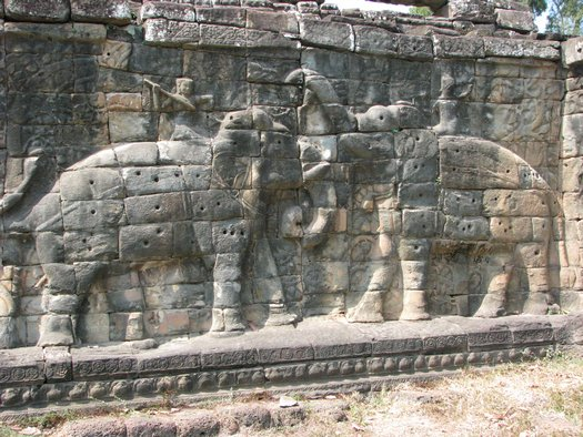 Two elephants at Angkor Wat
