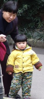 Chinese toddler and grandmother